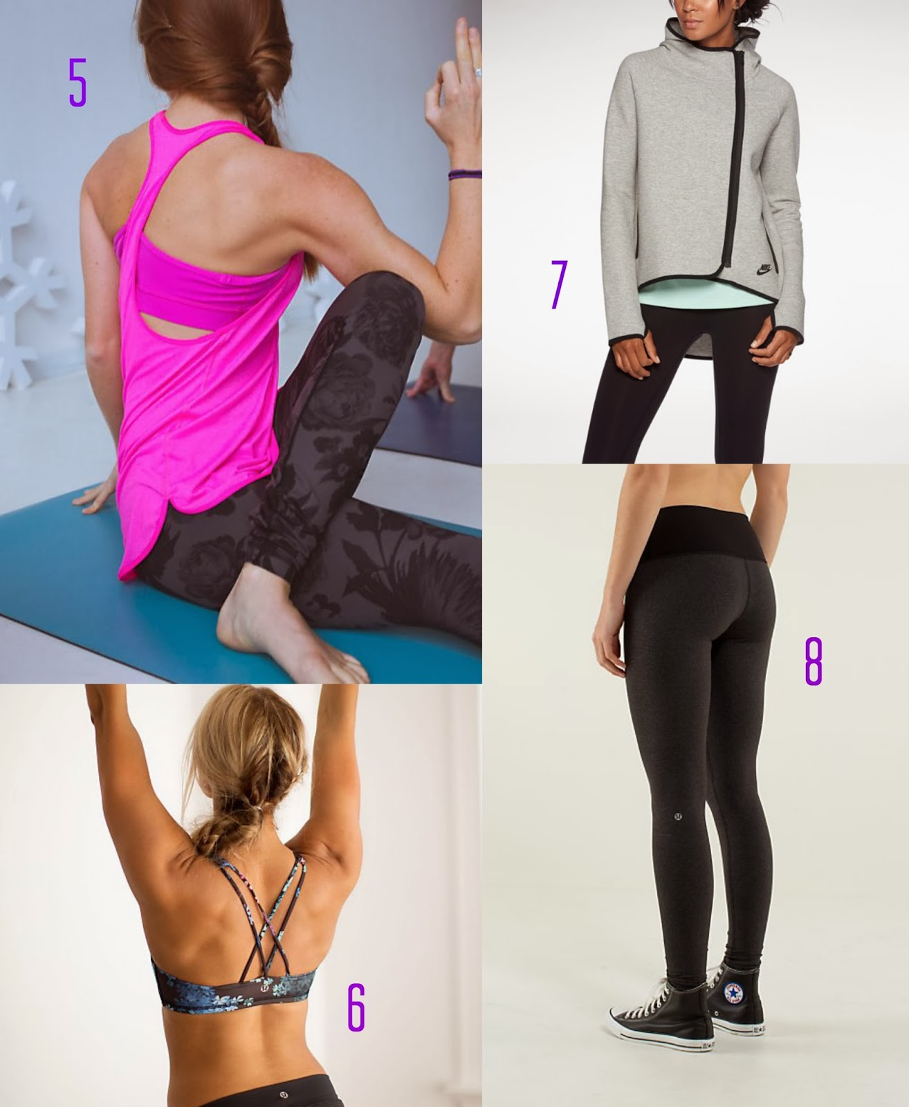 Fashionable workout clothes
