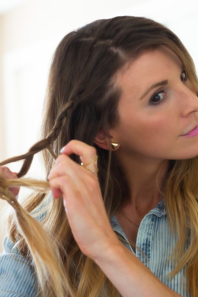 Easy 3 Step Braided Hairstyle Cella Jane