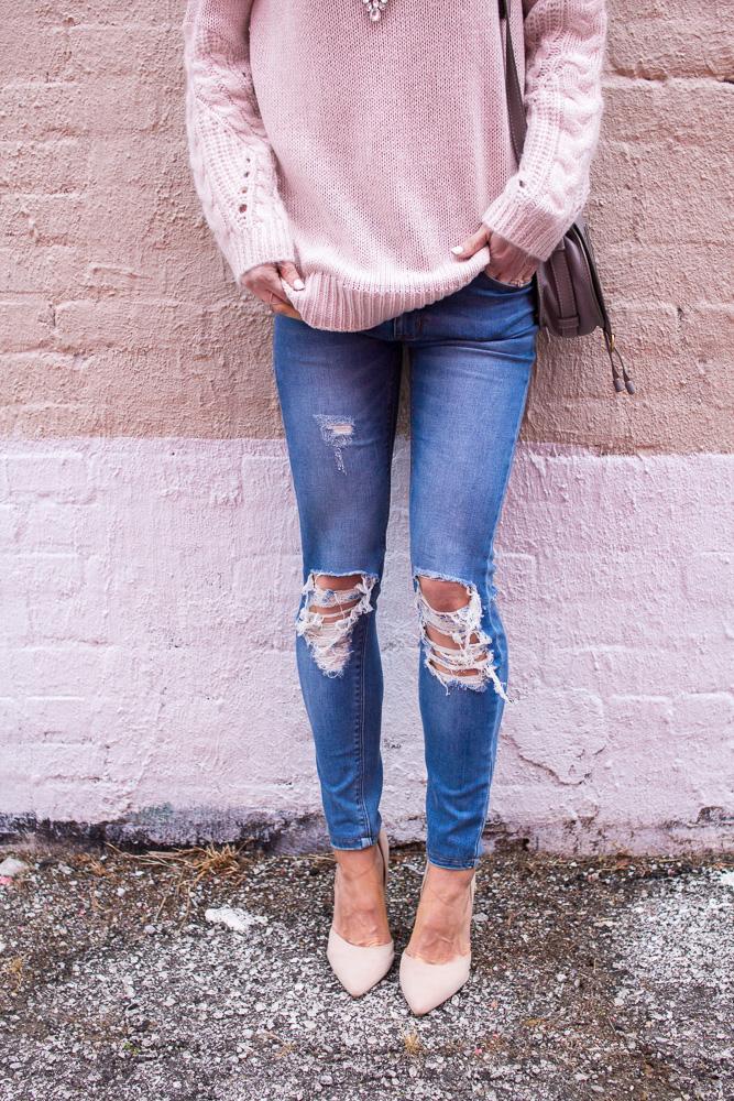 pink-knit-sweater
