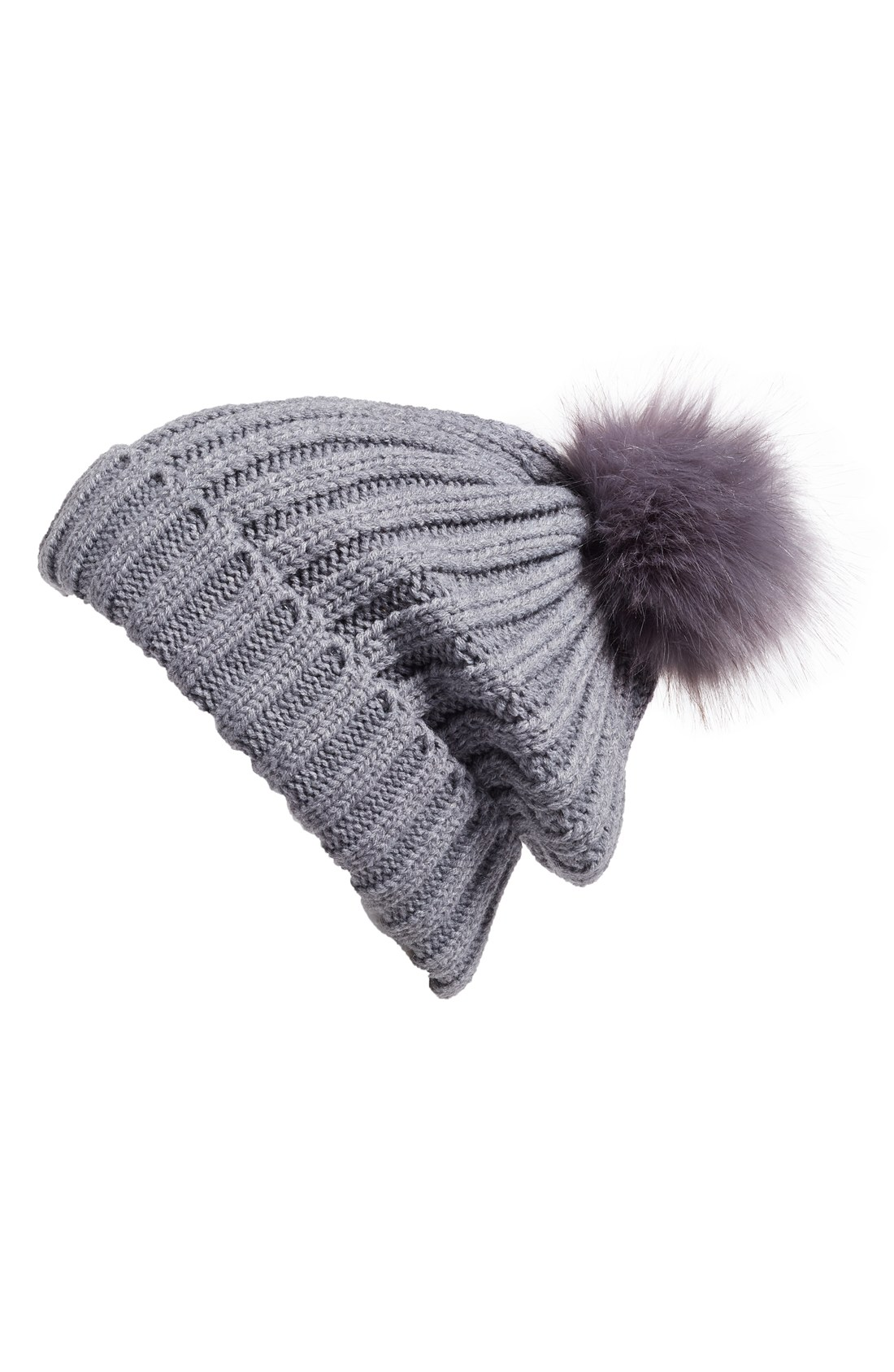 bb26b7c14ca Lyst - Moncler Ribbed-knit Beanie Hat W fur Pompom in Red