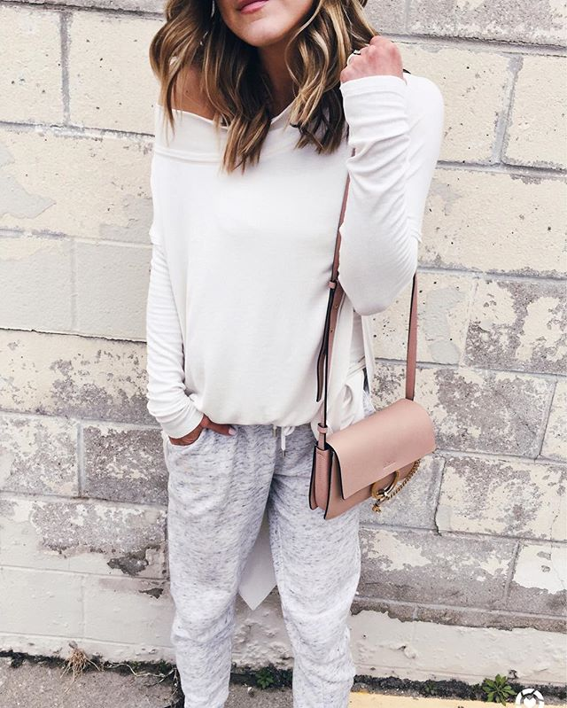 free people, oversized tunic, joggers, chloe handbag