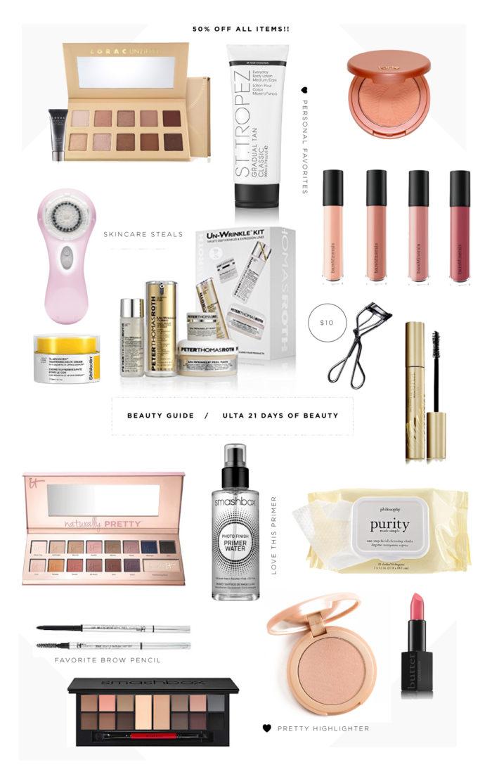 ulta, 21 days of beauty, sale, lorac, skincare, beauty, 50% off, cosmetics, smashbox, philosophy, unwrinkle kit, st. tropez