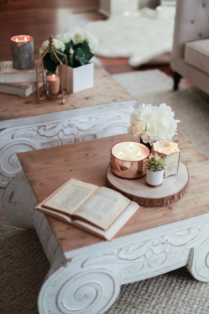 candle, votivo, home decor, coffee table