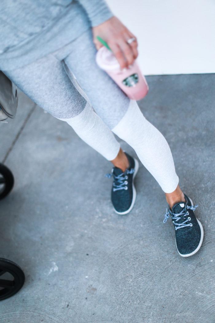sneakers, leggings,  grey, all birds, athleisure