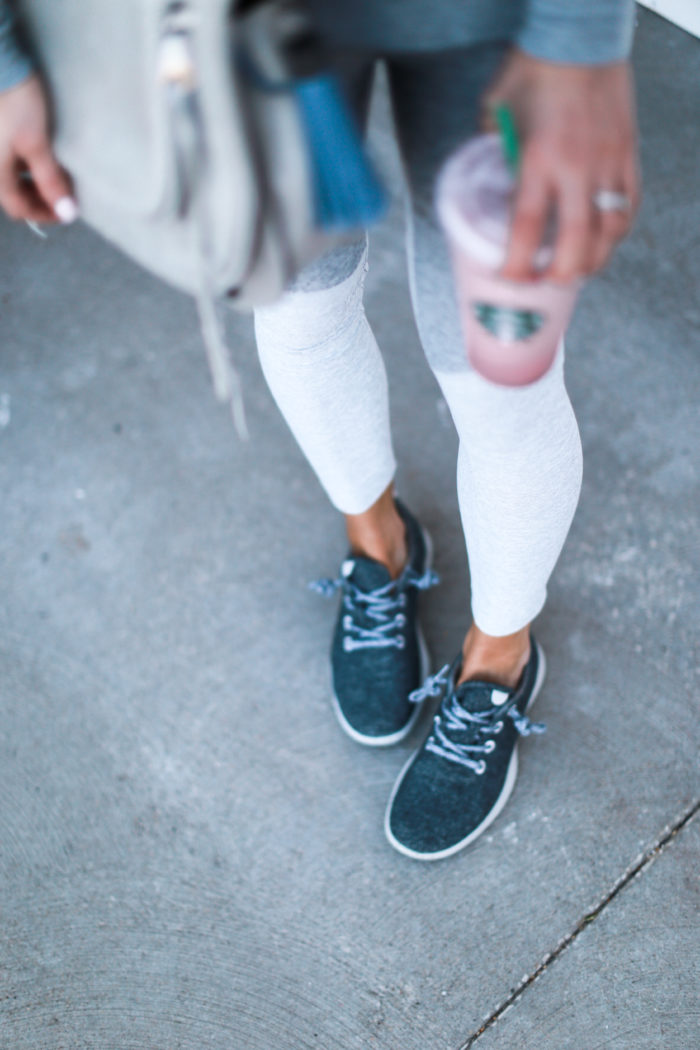 sneakers, leggings, grey, allbirds, athleisure