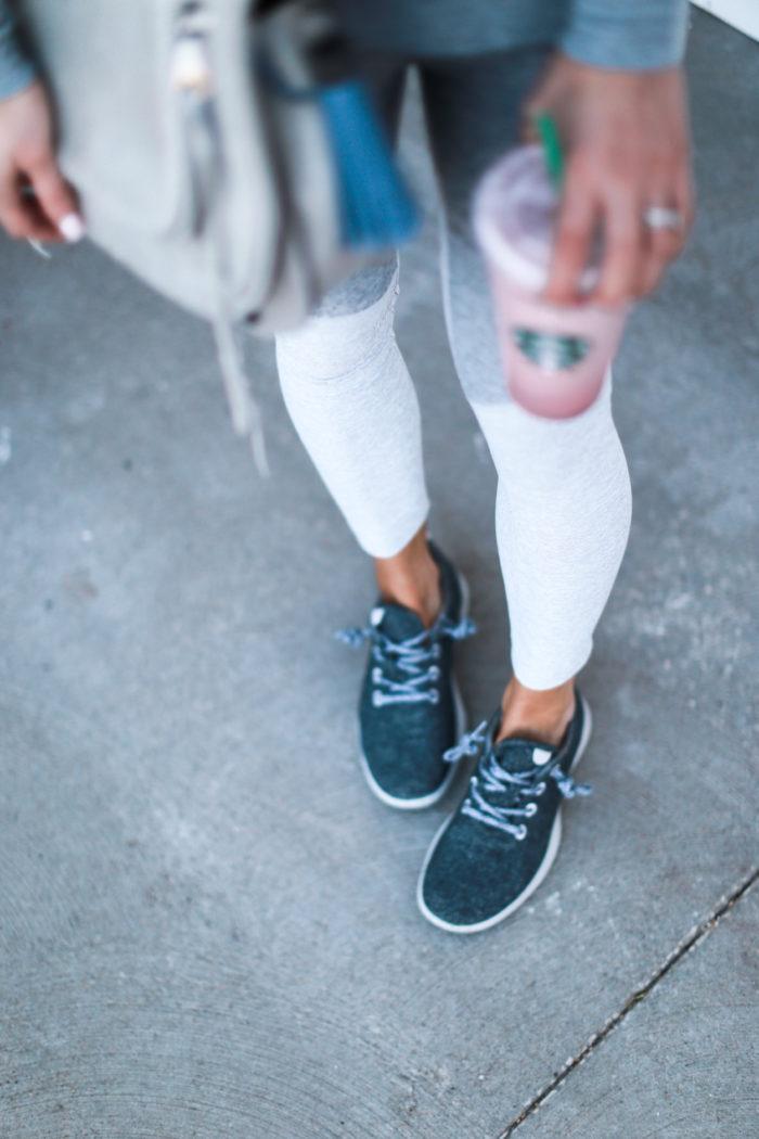 sneakers, leggings, grey, allbirds, athleisure
