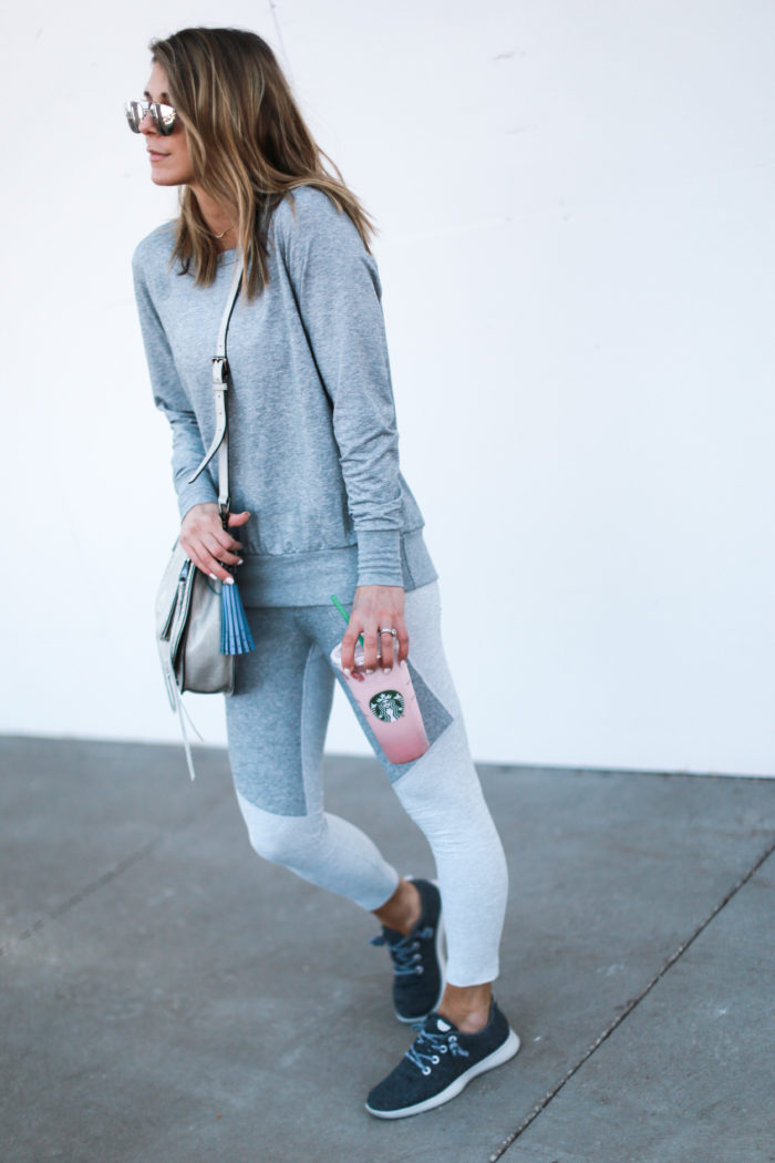 sneakers, grey, allbirds, tassel, athleisure, crossbody, fitness, mom