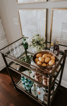 How To Style & Stock A Bar Cart