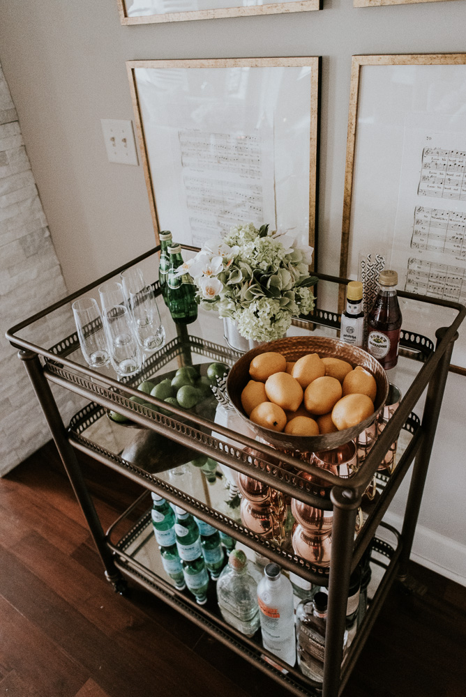 How To Style & Stock A Bar Cart | Cella Jane