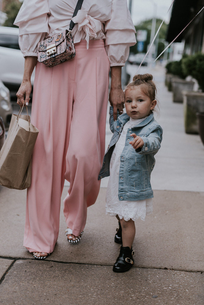 mommy daughter style, furla handbag, toddler fashion, girl fashion,