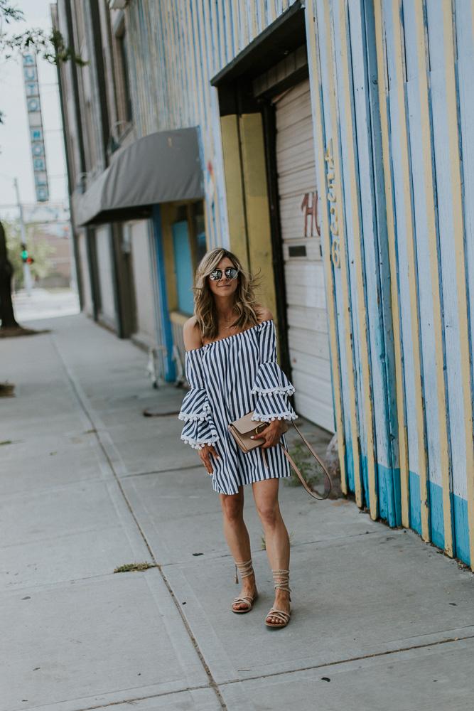 chloe handbag, Raye sandals, nude sandals, off the shoulder dress, Vava by Joy Han dress, fashion blogger, style blogger