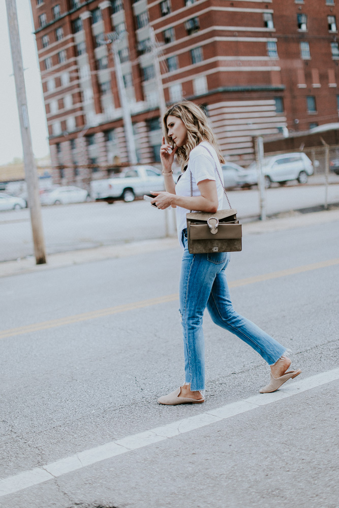 b5c5c2b82e Madewell Whisper White Tee TTS (wearing size small) // Lovers & Friends  Jeans TTS // Frye Loafers TTS // Gucci Bag // Ray-Ban Aviator