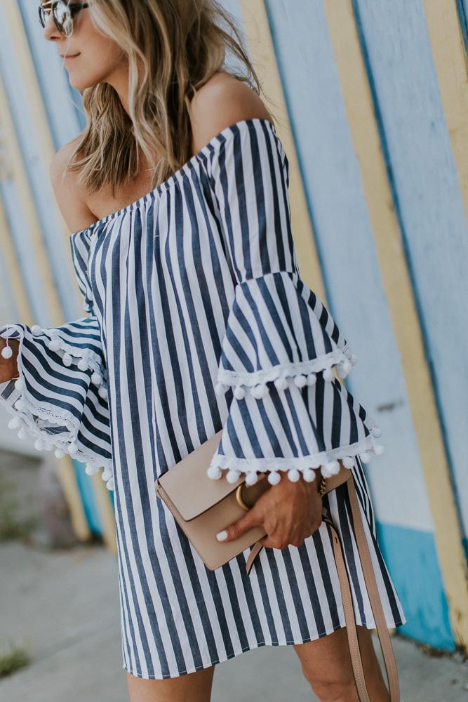 chloe handbag, off the should dress, Vava by Joy Han dress, fashion blogger, Kansas City blogger, style blogger
