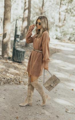 Fall Favorites: Sweater Dress & OTK Boots