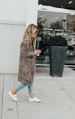 Leopard Coat & Sneakers