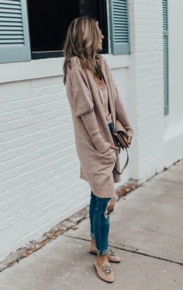 Fall Outfit: Cozy Cardigan and Distressed Denim