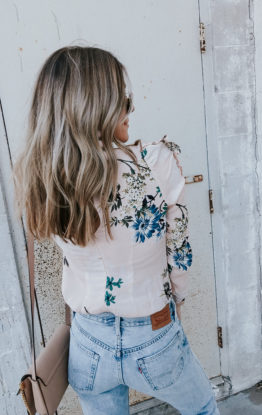 Floral Blouse Under $100 & Casual Valentine's Day Look