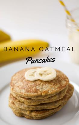 3-Ingredient Banana Oatmeal Pancakes