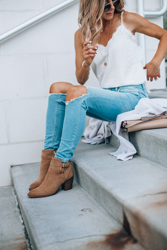 Nordstrom Anniversary Sale outfit ideas Free People jeans
