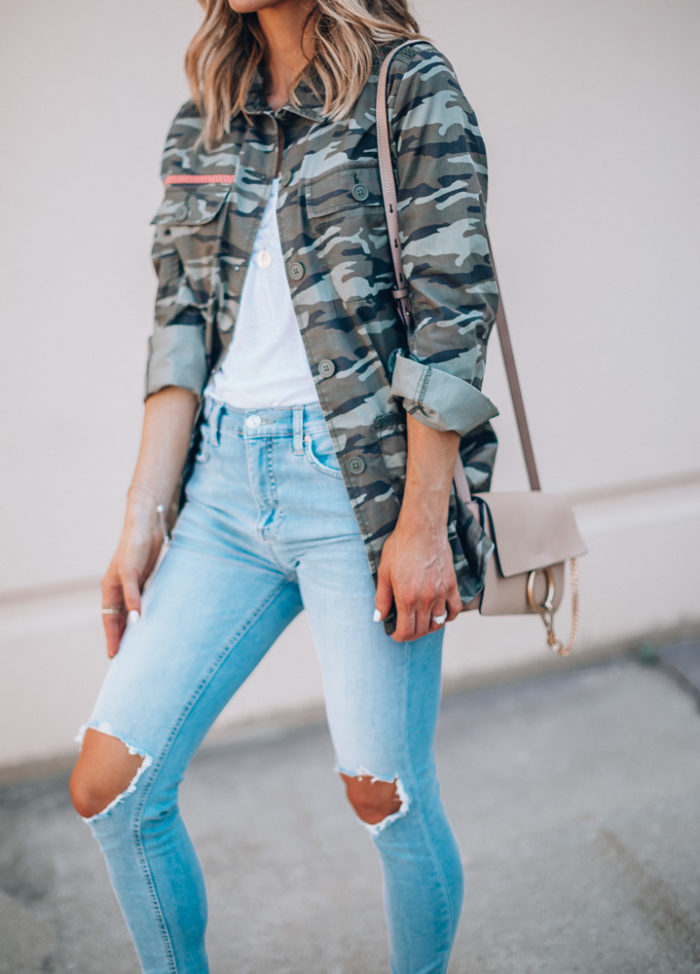 Nordstrom Anniversary Sale outfit ideas camo utility jacket