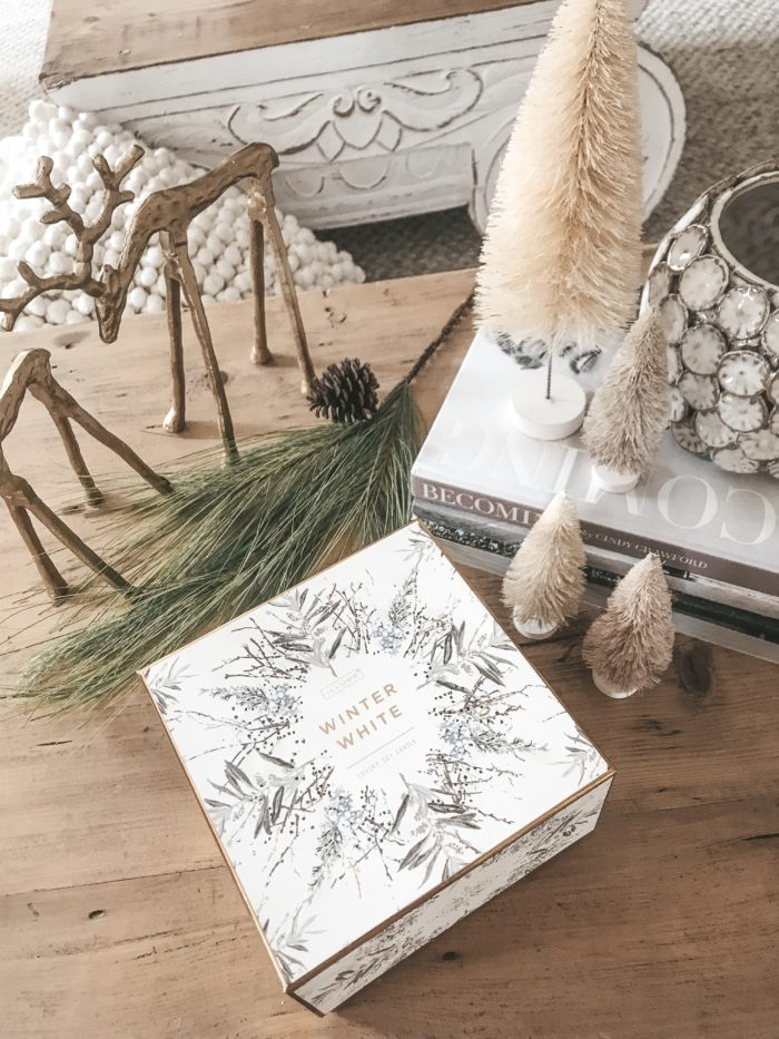 hostess gift ideas winter white candle