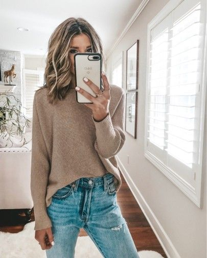 Mango sweater cozy fall outfit