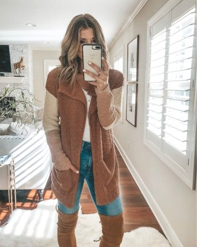 Billabong cardigan cozy fall outfit