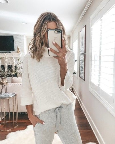 Free People joggers cozy fall outfit
