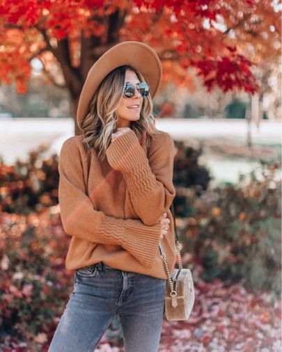 mockneck sweater cozy fall outfit