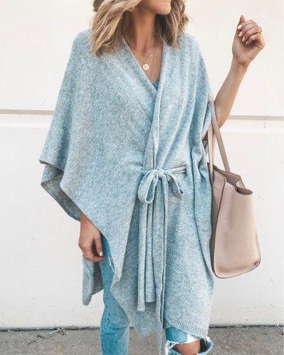 knit kimono cozy fall outfit