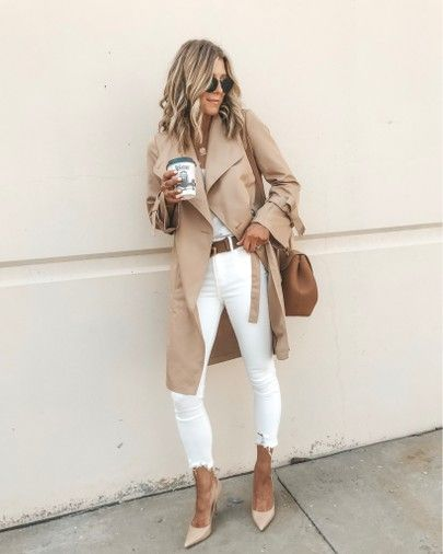 Uniqlo trench coat fall outfit