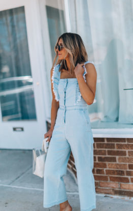 How to Style a Chambray Jumpsuit for Spring