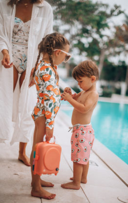 Swimwear & Sunscreen for the Whole Family