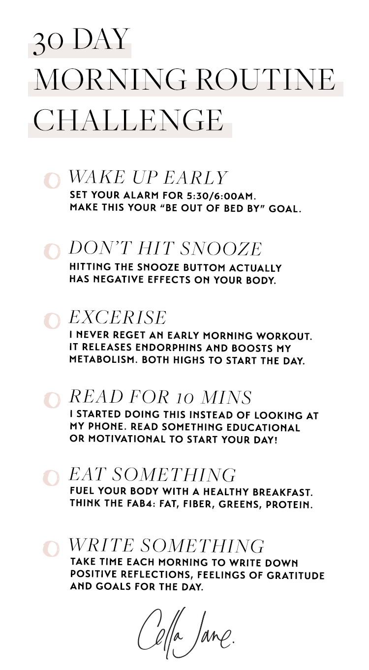Tips For Starting An Early Morning Exercise Routine Cella Jane