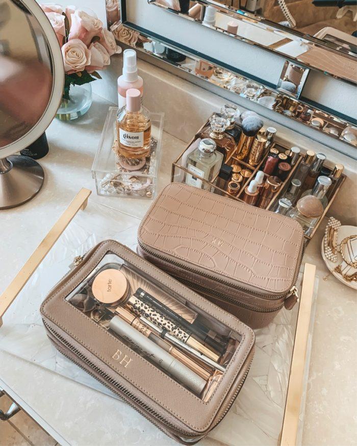 compact travel makeup bag