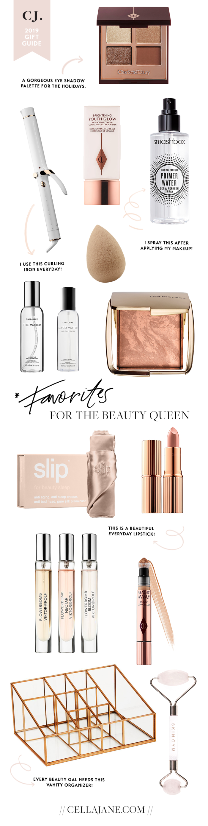 2019 beauty gift guide including beauty gift ideas for her