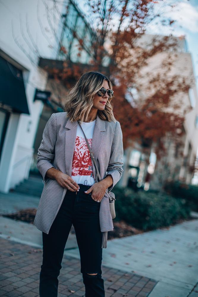 how to style plaid annie bing blazer