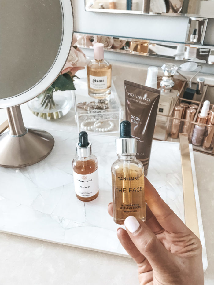 tan lux the face tanning drops to use daily