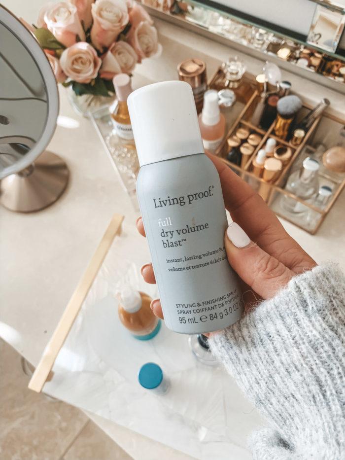 travel size living proof full dry volume blast dry shampoo