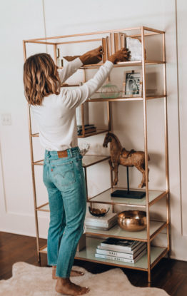 How To Style A Book Shelf + At Home Favorites