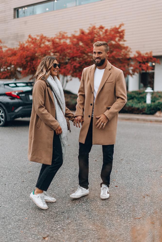 2019 gift for men including mens camel topcoat
