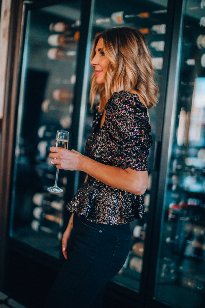 sequin tops for holiday parties 2019