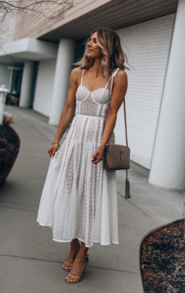 A Beautiful White Dress To Wear This Spring